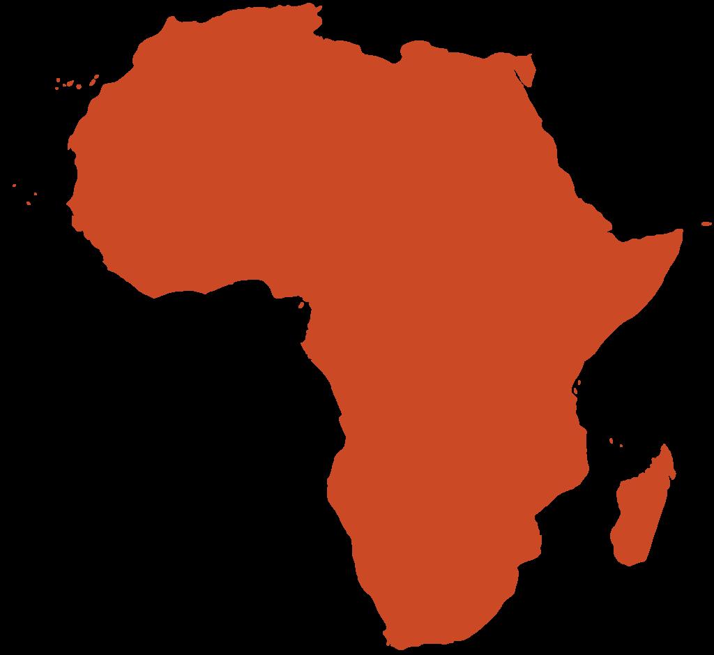 Illustration couleur ocre du continent africain avec Madagascar en bas à droite